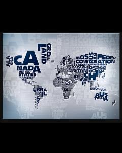 Tavla Canvas 85x113 Världskarta