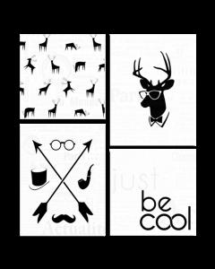Tavla Canvas 64x74 Be Cool 4 delar