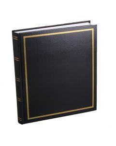 Album Diamant 500 Svart Vita blad pergamyn