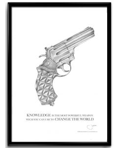 Konstblad 30x40 Pistol