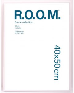 Metallram Vit 40x50 Room med PP 29,7x42 A3
