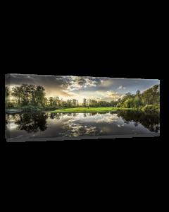 Tavla Canvas 60x150 Green Sunset