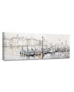 Tavla Canvas 60x150 Venice Harbour
