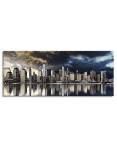 Tavla Canvas 60x150 Manhattan Gold City