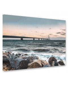 Tavla Canvas 75x100 Great Belt Bridge