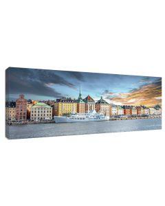 Tavla Canvas 60x150 Stockholm Gamla Stan Sunset