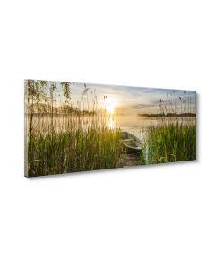 Tavla Canvas 60x150 Boat in grass