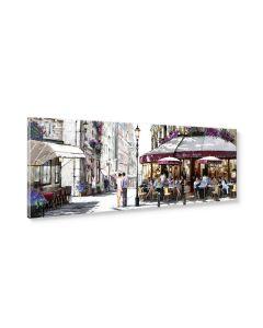 Tavla Canvas 32x100 Cafe