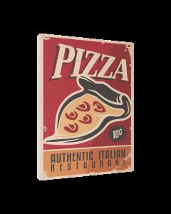 Tavla Canvas 30x40 Retro Food Pizza