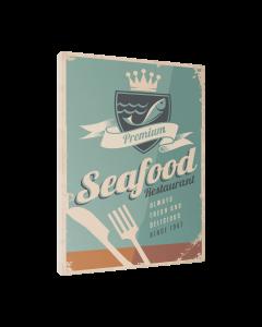 Tavla Canvas 30x40 Retro Food Seafood