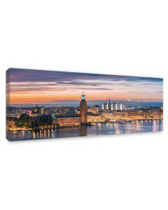 Tavla Canvas 60x150 Stockholm City hall
