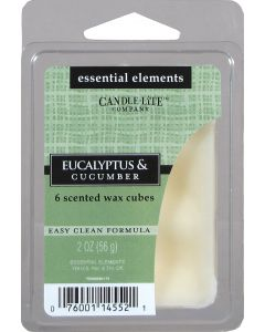 Essential 2 oz/56g Wax Cubes Eucalyptus & Cucumber