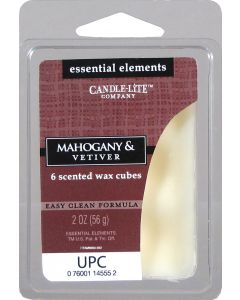 Essential 2 oz/56g Wax Cubes Mahogany & Vetiver