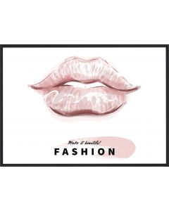 Poster 30x40 Pink Girly Fashion Lips (planpackad)