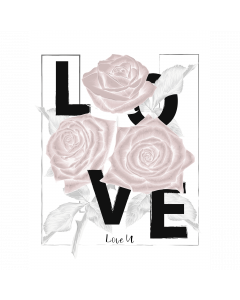 Poster 30x40 Pink Girly Love Roses (planpackad)