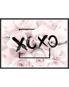Poster 30x40 Pink Girly XOXO (planpackad)