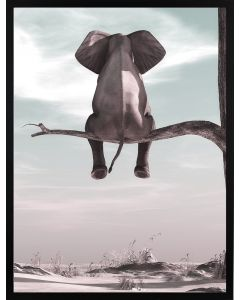 Poster 50x70 Pastell Elephant (planpackad)