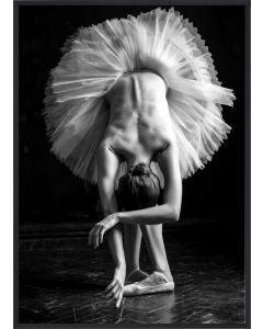 Poster 30x40 B&W Dancing Woman (planpackad)