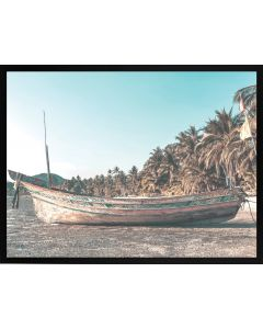 Poster 30x40 Summer Beach Boat