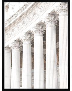 Poster 50x70 Beige Building Pillars