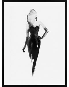 Poster 30x40 B&W Little Black Dress (Planpackad)
