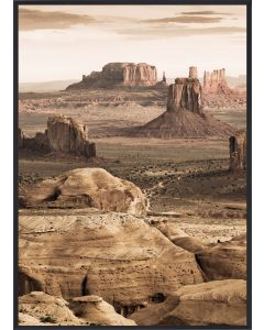 Poster 30x40 Desert Rocks (Planpackad)