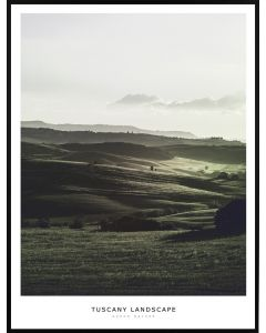 Poster 50x70 Green Nature Tuscany Landscape (planpackad)
