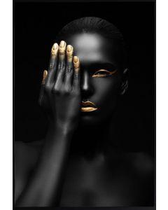 Poster 30x40 Gold finger (planpackad)
