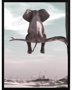 Poster 50x70 Pastell Elephant (planpackad)