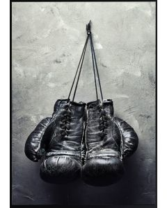 Poster 30x40 Black Boxing Gloves (planpackad)
