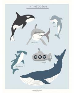 "Poster 30x40 Barnmotiv ""In the Ocean"""