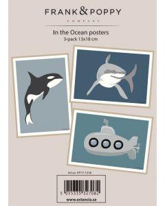 Poster 13x18 - 3 pack Frank & Poppy Ocean 1