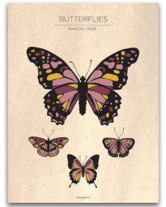 Poster 30x40 Frank & Poppy Butterflies