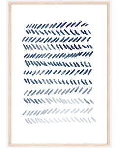 Poster 30x40 Blue Art No 2 (Planpackad)