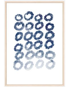 Poster 30x40 Blue Art No 3 (Planpackad)