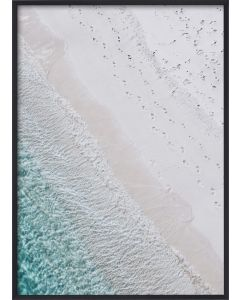 Poster 50x70 Pastel Blue Shore (Planpackad)