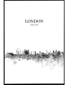 Poster 30x40 B&W London (planpackad)